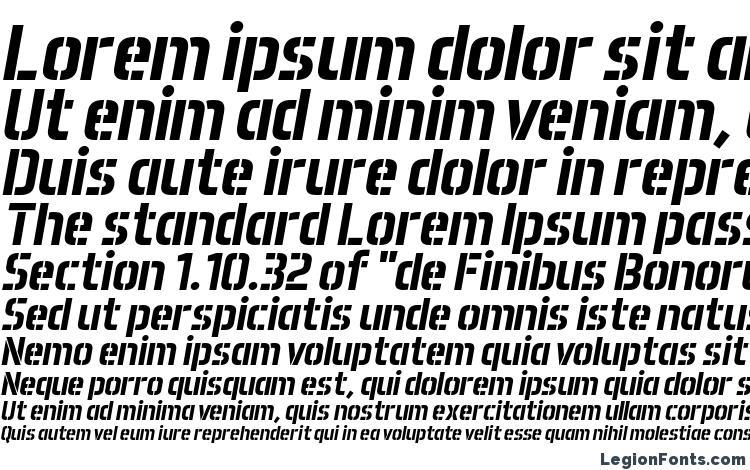 specimens Aero Matics Stencil Bold Italic font, sample Aero Matics Stencil Bold Italic font, an example of writing Aero Matics Stencil Bold Italic font, review Aero Matics Stencil Bold Italic font, preview Aero Matics Stencil Bold Italic font, Aero Matics Stencil Bold Italic font