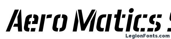 Aero Matics Stencil Italic Font