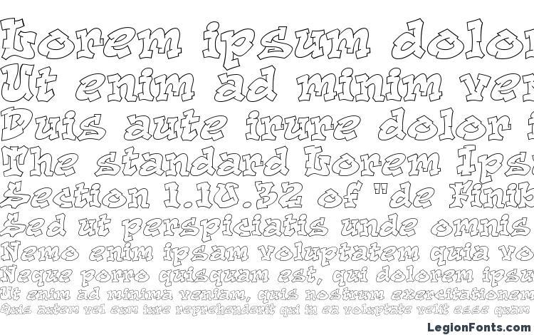 specimens Aerosol font, sample Aerosol font, an example of writing Aerosol font, review Aerosol font, preview Aerosol font, Aerosol font