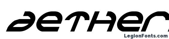 Шрифт Aetherfox Italic