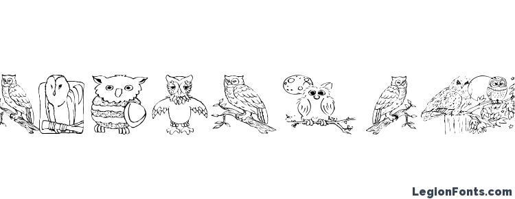 глифы шрифта Aez owls for traci, символы шрифта Aez owls for traci, символьная карта шрифта Aez owls for traci, предварительный просмотр шрифта Aez owls for traci, алфавит шрифта Aez owls for traci, шрифт Aez owls for traci
