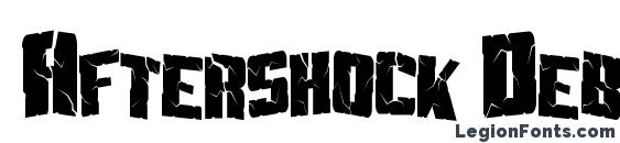 Шрифт Aftershock Debris Condensed