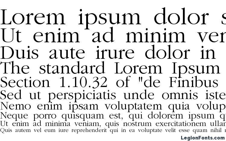 Garamond Font Sample