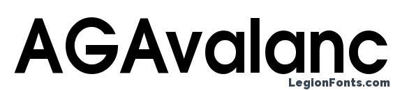 AGAvalanche Bold90n Font
