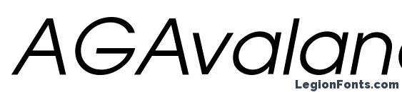 AGAvalanche Oblique Font