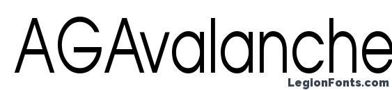 AGAvalanche75 Normal Font, Modern Fonts