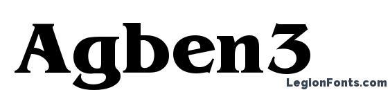 шрифт Agben3, бесплатный шрифт Agben3, предварительный просмотр шрифта Agben3