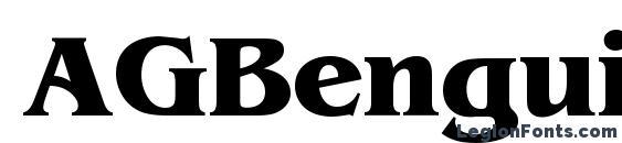 Шрифт AGBenguiatCyr Bold Bold