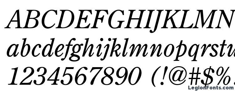 glyphs AGCenturion Italic font, сharacters AGCenturion Italic font, symbols AGCenturion Italic font, character map AGCenturion Italic font, preview AGCenturion Italic font, abc AGCenturion Italic font, AGCenturion Italic font