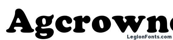 Шрифт Agcrownc