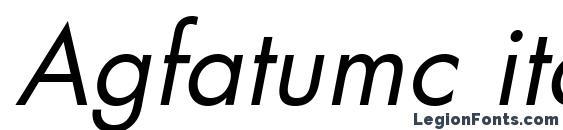 Шрифт Agfatumc italic