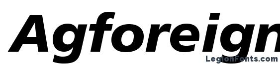 Agforeignerc bolditalic Font, OTF Fonts