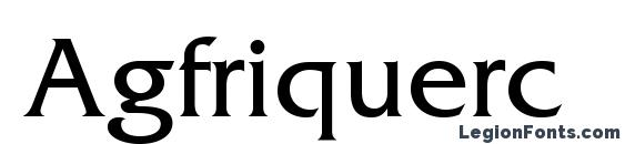 Agfriquerc Font, Russian Fonts