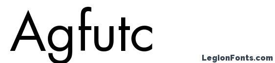 Agfutc font, free Agfutc font, preview Agfutc font