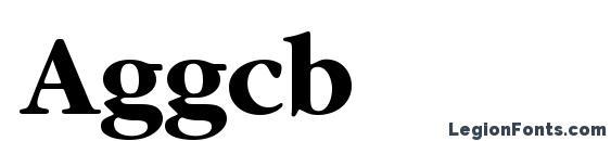 Шрифт Aggcb