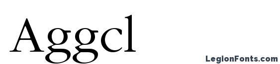 Шрифт Aggcl