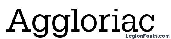 Aggloriac font, free Aggloriac font, preview Aggloriac font
