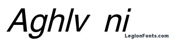 Aghlv ni Font