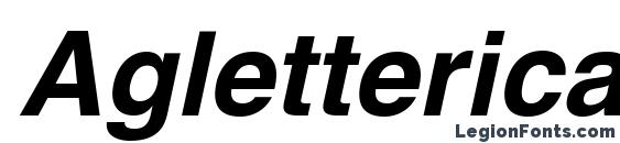 Aglettericac bolditalic Font, Russian Fonts