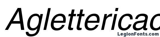 Aglettericac italic Font