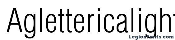 Aglettericalightcondensedc Font