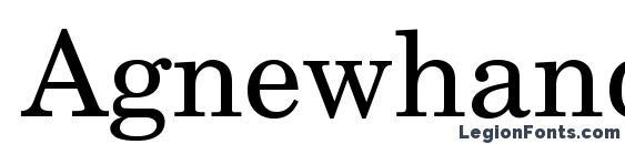 Agnewhandbookc Font