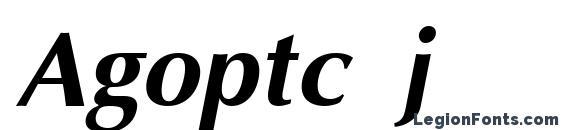 Шрифт Agoptc j