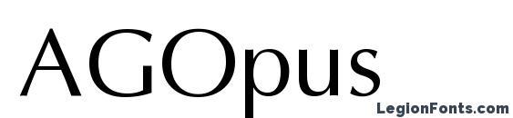 Шрифт AGOpus