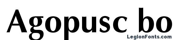 Шрифт Agopusc bold