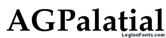 Шрифт AGPalatial Bold