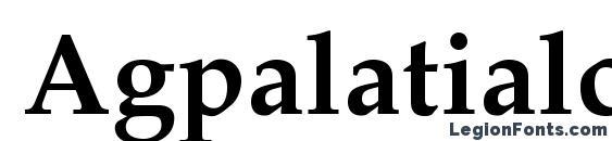 Шрифт Agpalatialc bold