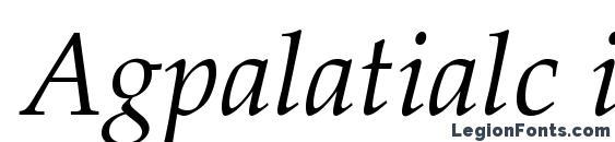 Agpalatialc italic Font