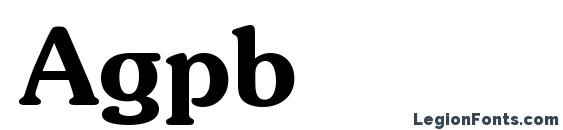 Agpb Font