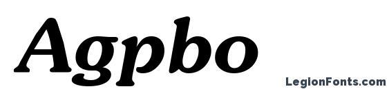 Agpbo Font