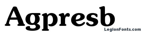 Agpresb Font