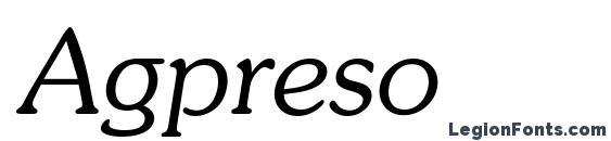 Шрифт Agpreso