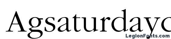 Шрифт Agsaturdayc