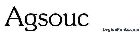 Agsouc Font