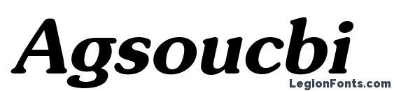 Agsoucbi Font