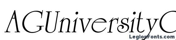 AGUniversityCyr Oblique Medium Font, Cursive Fonts