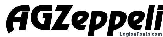 AGZeppelin Oblique Font