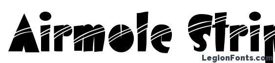 Airmole Stripe Font