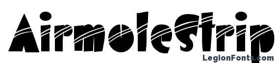 AirmoleStripe Regular Font, African Fonts