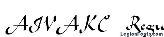 AIVAKC Regular Font, Cursive Fonts