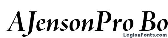 AJensonPro BoldItDisp font, free AJensonPro BoldItDisp font, preview AJensonPro BoldItDisp font