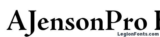 AJensonPro BoldSubh Font