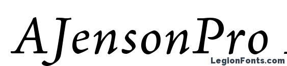 AJensonPro ItCapt Font