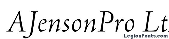 AJensonPro LtItSubh Font