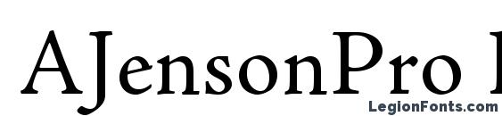 AJensonPro Regular font, free AJensonPro Regular font, preview AJensonPro Regular font