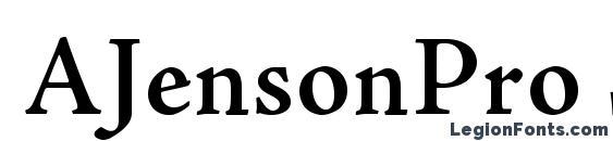AJensonPro Semibold Font, OTF Fonts